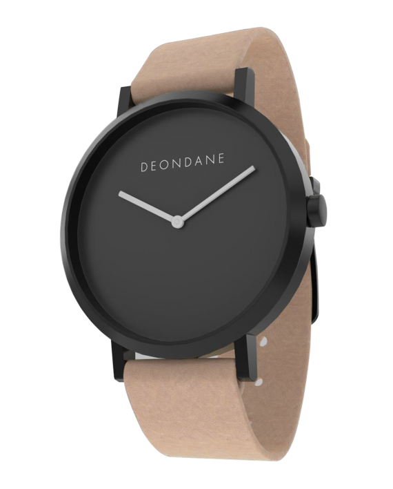 The Black On Natural Watch