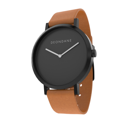 The Black On Tan Watch