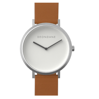 The Silver On Tan Deon Dane Watch