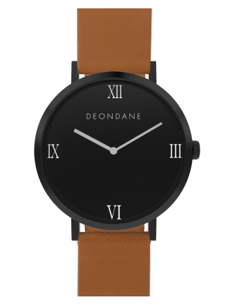 The Black Numeral On Tan Dean Dane Watch