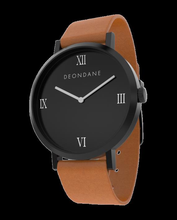 The Black Numeral On Tan Dean Dane Watch